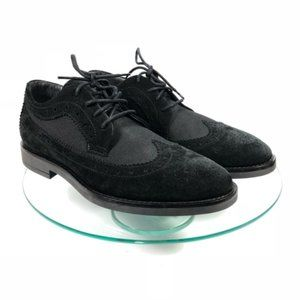 NEW A. Testoni Oxford Shoes Suede Leather